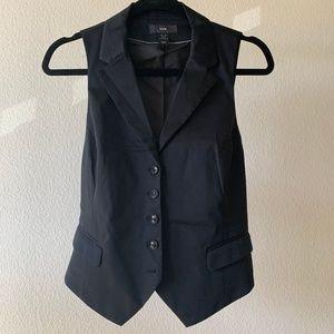 Women's Fitted Black Waistcoat